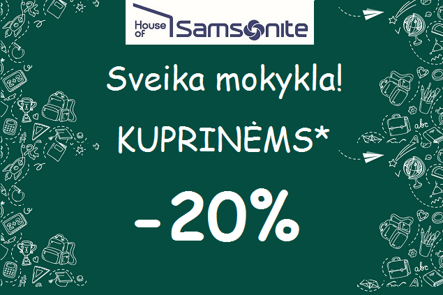 House of Samsonite – Kuprinėms -20%!