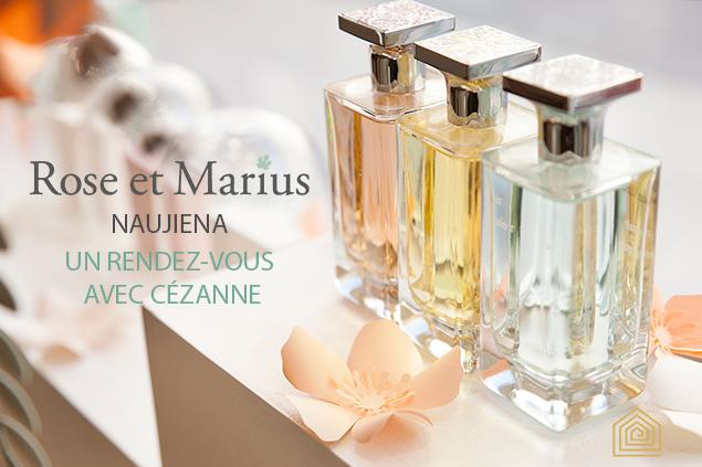 Naujasis magiškas bei jausmingas UN RENDEZ-VOUS AVEC CÉZANNE aromatas iš naujausios ROSE ET MARIUS kolekcijos jau THE HOME STORY salone!