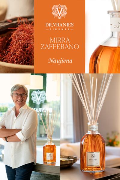 Naujasis DR. VRANJES FIRENZE namų kvapas MIRRA ZAFFERANO jau THE HOME STORY salone!